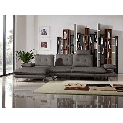 Eva Sectional Upholstery: Grey