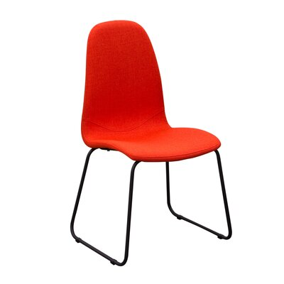 Finn Side Chair Upholstery: Coral