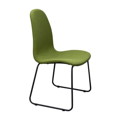 Finn Side Chair Upholstery: Green