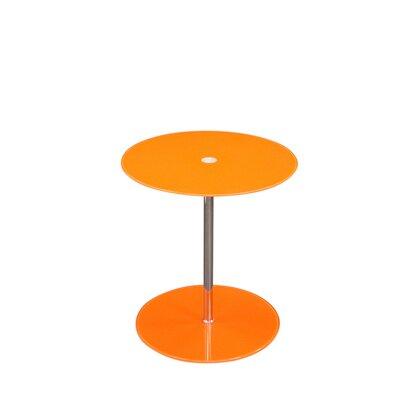 Orbit End Table Color: Orange