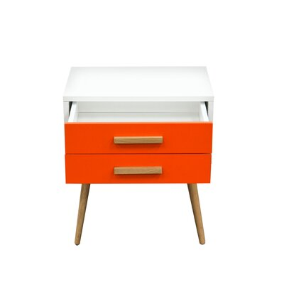 Tangent End Table Color: Orange