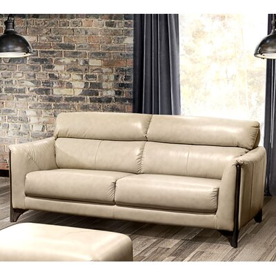 Monaco Leather Sofa Upholstery: Tan