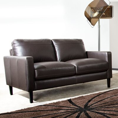 Omega Leather Loveseat