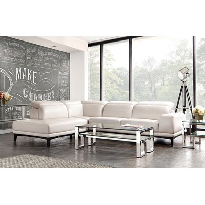Pearl Leather Sectional
