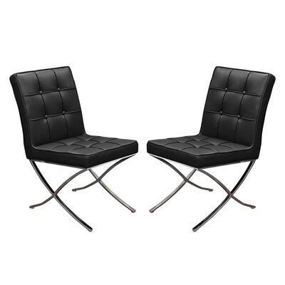 Cordoba Side Chair Upholstery: Black