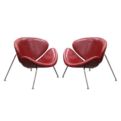 Roxy Papasan Chair (Set of 2) Color: Vintage Red