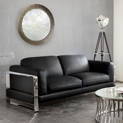 Annika Loveseat Color: Black