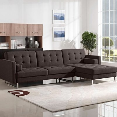 Siefert Sleeper Sectional Upholstery: Chocolate