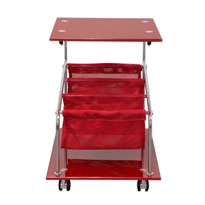 Rocket Castered End Table Color: Red
