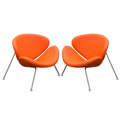 Roxy Papasan Chair Upholstery: Orange