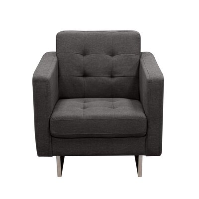 Siefert Tufted Arm Chair Color: Grey