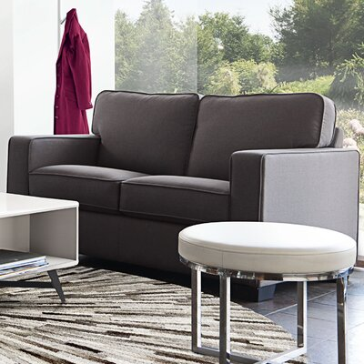 Paramus Loveseat Upholstery: Dark Gray