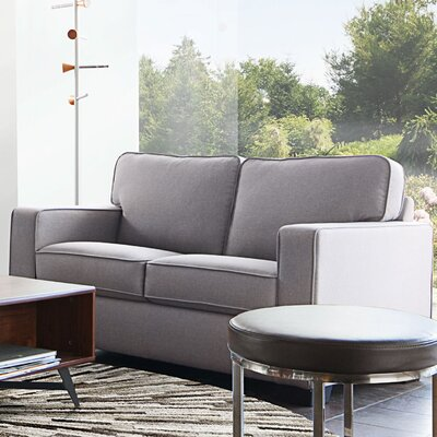 Paramus Loveseat Upholstery: Light Gray
