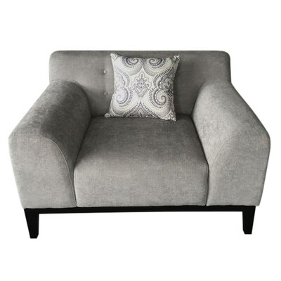 Standifer Tufted Back Arm Chair Upholstery: Light Gray