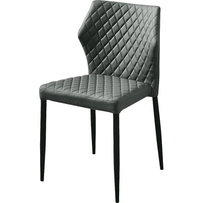 Rachell Upholstered Dining Chair Upholstery Color: Gray