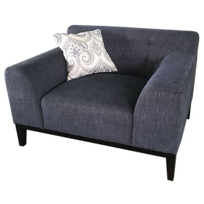 Standifer Tufted Back Arm Chair Upholstery: Blue