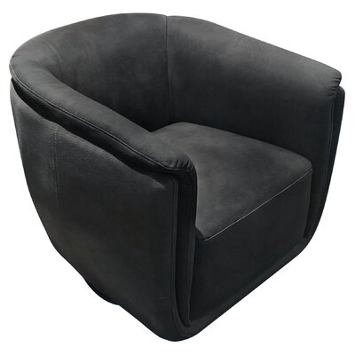 Halcott Swivel Accent Barrel Chair Upholstery: Anthracite
