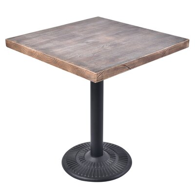 Caddys Vintage Square Wooden Bistro Table