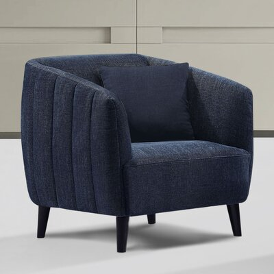 Gilberto Arm Chair Upholstery: Navy