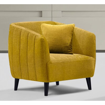 Gilberto Arm Chair Upholstery: Dijon