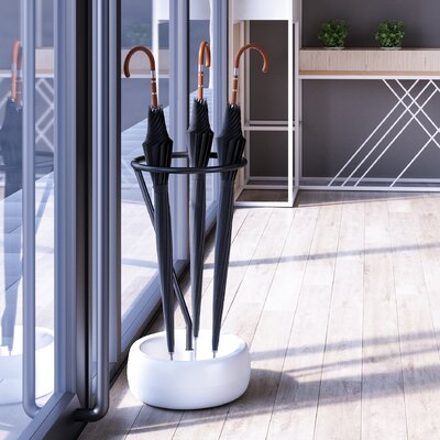 Stanfill Metal Free Standing Base Umbrella Stand Finish: Black