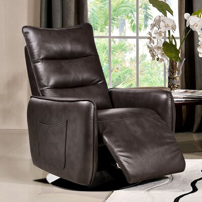 Hague Manual Recliner Upholstery: Chocolate