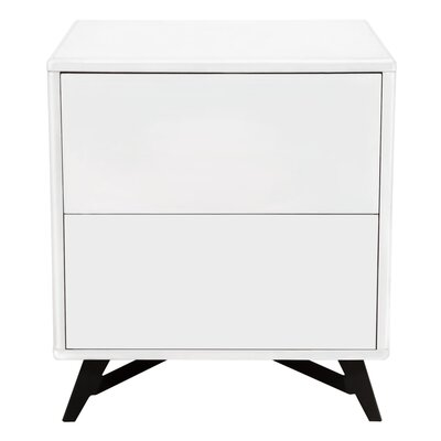 Alita End Table Finish: White