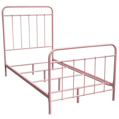 Eells Bed Size: Twin, Bed Fame Color: Pink