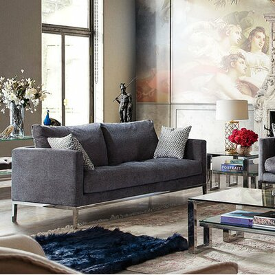 Lamanna Loose Back Loveseat Upholstery: Azure Gray