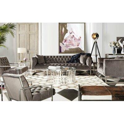 Lamas Tufted Chair Ulphostery: Dusk Gray
