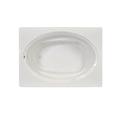 "Signature® 60"" x 32"" Drop In Bathtub Finish: White, Drain Location: Left, Additional Features: Soaking Bathtub"