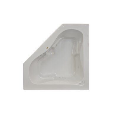 "Signature® 60"" x 60"" Drop In Whirlpool Bathtub Finish: White, Additional Features: Whirpool Bathtub with Heater"