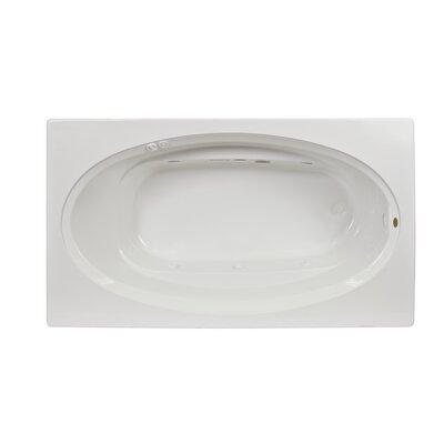 "Signature® 60"" x 36"" Drop In Bathtub Finish: Oyster, Drain Location: Right, Additional Features: Whirlpool Bathtub"