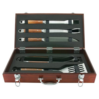 PD Forged 5 Piece Tool Set with Wood Carrying Case 02136X