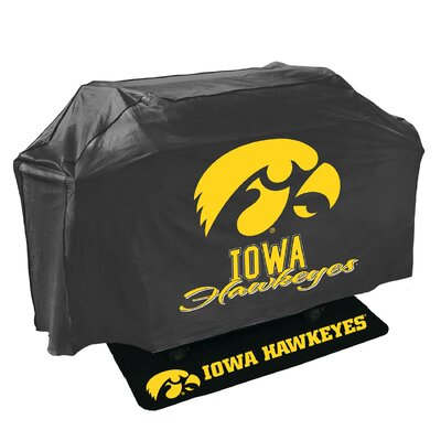 2 Piece NCAA Grill Cover and Grill Mat Set