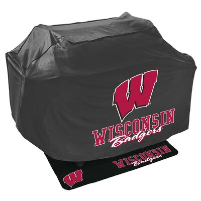NCAA Grill Cover and Grill Mat Set NCAA Team: University of Wisconsin Badgers 162836