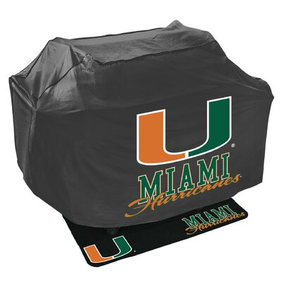 NCAA Grill Cover and Grill Mat Set NCAA Team: University of Miami Hurricanes 162838