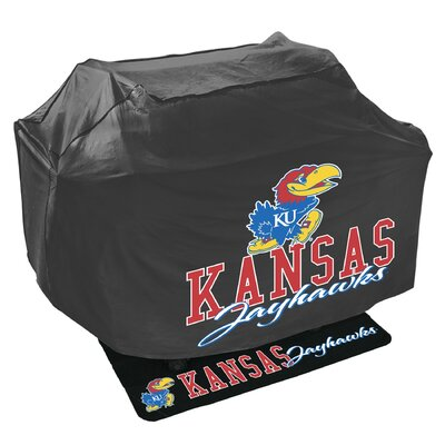 NCAA Grill Cover and Grill Mat Set NCAA Team: University of Kansas Jayhawks 162842
