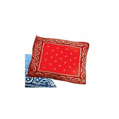 Rectangle Bandana Dog Pillow Size: Large (36 L x 30 W), Color: Red