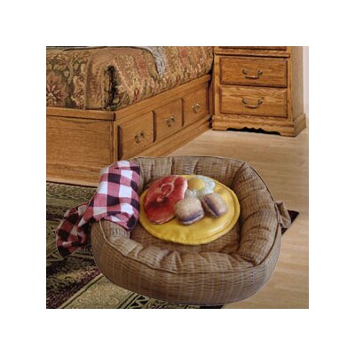 Picnic Basket Donut Dog Bed and Toys Set Size: Small (20 L x 20 W)