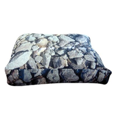 Rectangle Hard Rocks Dog Pillow Size: Medium (30 L x 24 W)