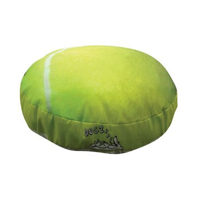 Round Tennis Ball Dog Pillow Size: Large (38 L x 38 W)
