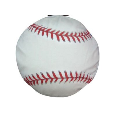Round Baseball Dog Pillow Size: Medium (28 L x 28 W)