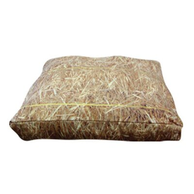 Rectangle Hay Dog Pillow Size: Large (36 L x 30 W)