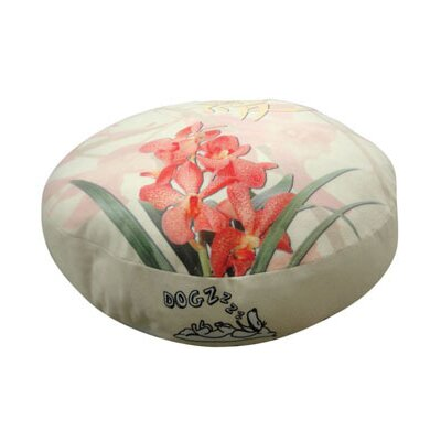 Round Orchid Dog Pillow Size: Small (20 L x 20 W)