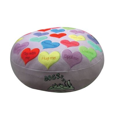 Round Hearts Dog Pillow Size: Small (20 L x 20 W)