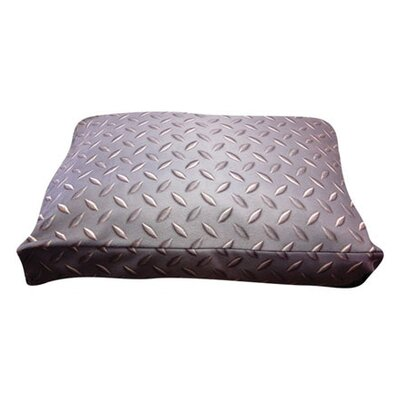 Rectangle Diamond Plate Dog Pillow Size: Medium (30 L x 24 W)