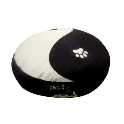 Round Yin Yang Dog Pillow Size: Medium (28 L x 28 W)