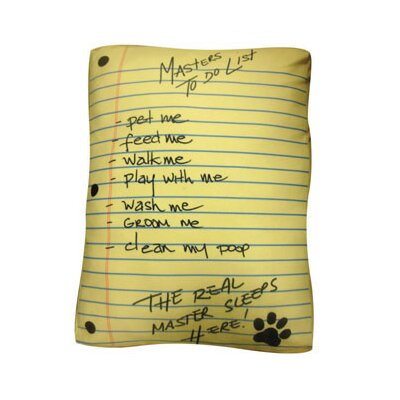 Rectangle To Do List Dog Pillow Size: Large (36 L x 30 W)