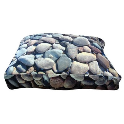 Rectangle River Rock Dog Pillow Size: Medium (30 L x 24 W)